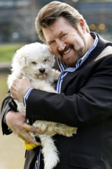 Derryn Hinch at the launch of the RSPCA 'Close Puppy Factories' campaign.