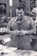 Mark Mitchell as Con the Fruiterer in <i>The Comedy Company</i>.