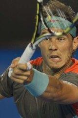 Rafael Nadal demolishes Thanasi Kokkinakis at the Rod Laver Arena.