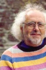 Archaeologist: Mick Aston wearing his famous rainbow jumper.