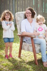 Resident doctor Brydie Ksiazek with daughters Delilah and Maggie.
