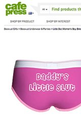A pair of girls underwear for sale on the website Cafe Press.
