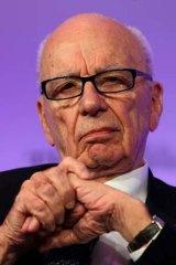 True believer ... Rupert Murdoch.