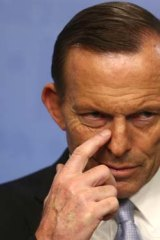 Naming names: Tony Abbott announces his frontbench on Monday.