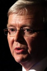 The then prime minister, Kevin Rudd, in 2009.