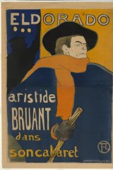 Lautrec's lithograph poster of Aristide Bruant.