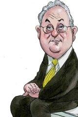 Trevor Gerber ... did the Valad chairman enjoy an undeserved bonanza? <em>Illustration: John Shakespeare</em>