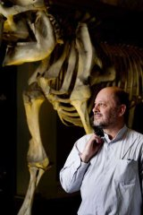 Scientist and author Tim Flannery at the Australian Museum.