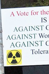 Hate campaign ... an unauthorised anti-Greens poster.