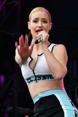 Iggy Azalea performing at Lollapalooza in Chicago.