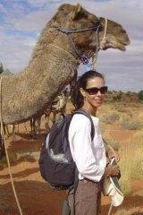 Outside life: Jo Bertini in the desert.