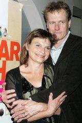 Non-fiction winners William McInnes and wife Sarah Watt.