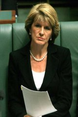 Not impressed: Deputy Opposition Leader Julie Bishop.