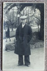 Shore sighted ... Jan Braund's father Percy Cameron in 1942.
