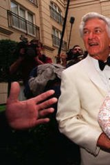 Nice day for a white wedding … Bob Hawke and Blanche d'Alpuget on their 1995 wedding day in Sydney.