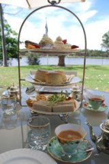 Delicious offerings at the Peninsula Tea Gardens in Perth.