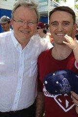Dumped ALP Forde candidate Des Hardman, with Kevin Rudd.