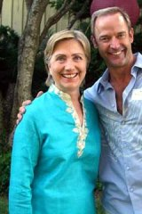 Connected: Thomas Ziolkowski with Hillary Clinton.