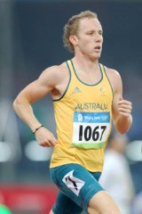 On the improve . . . 800-metre runner Lachlan Renshaw.