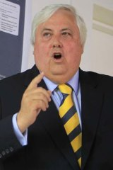 """Our advice is that the carbon tax in its current form is unconstitutional"" ... Clive Palmer."