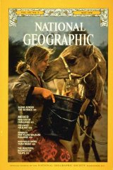 Fierce, determined, focused ... Davidson on the cover of a 1978 National Geographic.