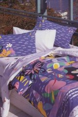 Bed linen featuring artwork by Ken Done.
