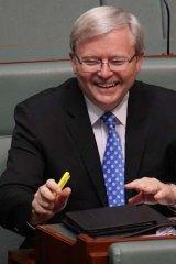 Bright days ahead?: Kevin Rudd.