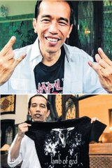 Metalhead: Joko Widodo lists Metallica, Megadeath, Lamb of God and Napalm Death among his favourite bands.