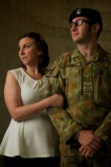 Soldiering on: Lance Corporal Gary Wilson, with wife Renee, spent two months in a coma after a Black Hawk crash in Afghanistan.