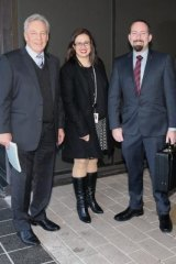 Senator Ricky Muir (second from right) in July with now departed advisers Peter Breen (left), Sarah Mennie and Glenn Druery.