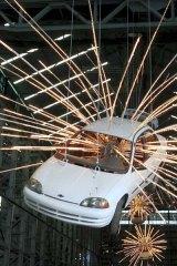 Cai Guo-Qiang's cars.