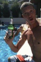 Sense of humour ... Emile Brugman's Facebook page shows him enjoying a drink.