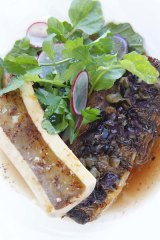 The one dish you must try ... grilled beef short rib with bone marrow, olive and a cress salad, $38.