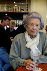 Kath Byer at the bar of the Notting Hill Hotel in 2003.