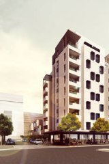 Artists impression of the 10-storey timber building to be built by Lend Lease.