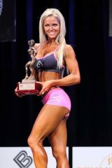 Alicia Gowans from Design Your Body Studio in Camp Hill with her bodybuilding award.