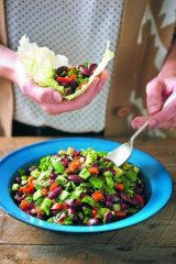 Hills hoist bean salad: Double the quantities and you'll have a great offering to take to a barbecue.