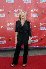 Olivia Newton-John arrives at the opening of <i>Xanadu</i> at Docklands last night.