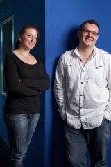 Nova FM music directors Estelle Peterson and Mike Cass.