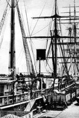 Sandridge Pier, Port Melbourne, circa 1885.