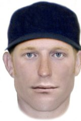 A composite image of the Midland Robbery suspect.