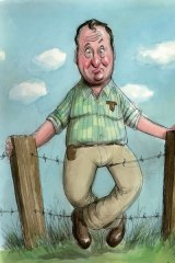 Barnaby Joyce's speaking style is a stark contrast to the constipated language of government.
