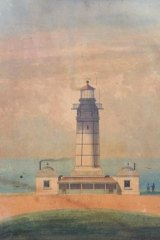 Macquarie Lighthouse designed by Francis Greenway, painted by John Bennett, ca. 1836 -1849.