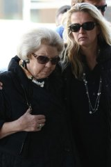 Queen Beatrix of the Netherlands, left, and Prince Johan Friso's wife Princess Mabel arrive at hospital on February 24, 2012 after the prince's ski accident.
