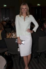 Today Show newsreader Sylvia Jeffreys at The Black and White Committee Women of Achievement Luncheon at The Four Seasons on Tuesday.