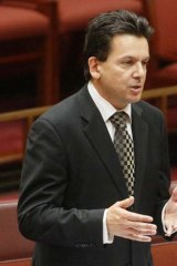 Dark days ... Senator Nick Xenophon is outraged at bonuses paid to BlueScope's senior executives amid staff sackings.