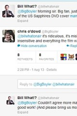 Chris O'Dowd's response on Twitter.