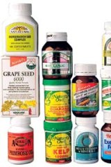 Some of the many herbal supplements available in pharmacies and health shops.