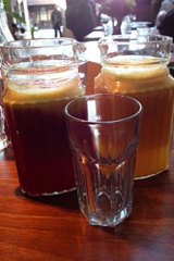 Dinky and delicious ... the juice jugs at Youeni.