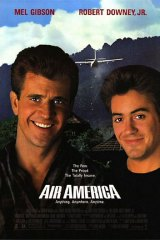 A poster for Air America (1990).